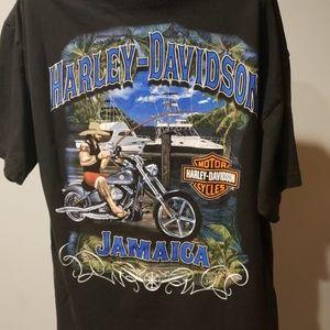 Harley Davidson Jamaica black tee shirt